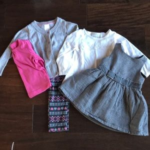Other - Baby Girl Pink/Gray Bundle, 12M